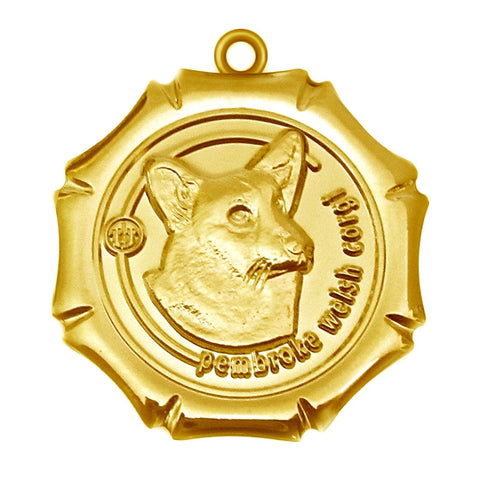 Pembroke Welsh Corgi Dog Id Tag Gold Finish - Tags4Tails
