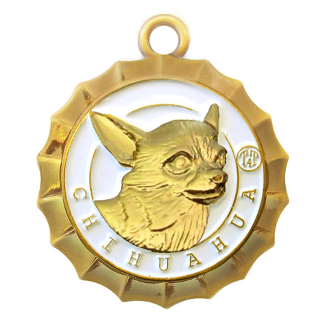 Chihuahua Id Tag Gold Finish - Tags4Tails