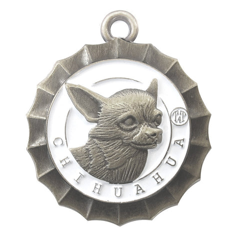 Chihuahua dog Id Tag Antique Silver Finish - Tags4Tails