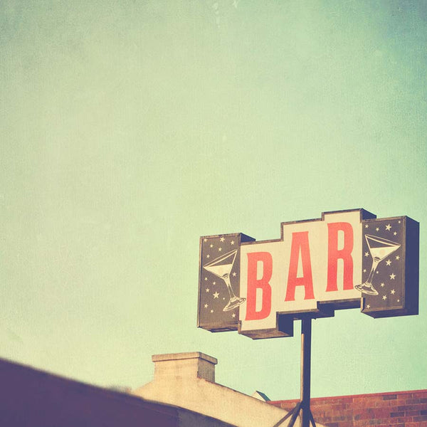 retro Bar sign print
