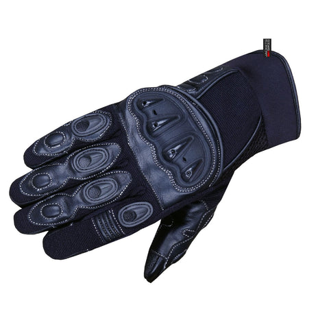 MAX SKIN MOTORCYCLE LEATHER GLOVES OFFROAD DIRT BIKE ATV BLACK