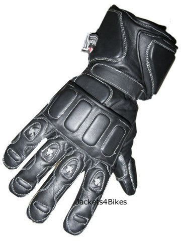 NEW RAIN WATERPROOF MOTORCYCLE GLOVES LEATHER BLACK