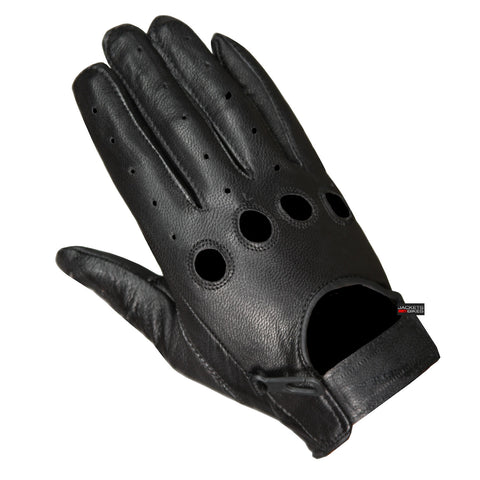 New Biker Police Leather Motorcycle Riding Ventilation Driving Gloves Black