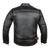 Mercury Highly Vented Men's Motorcycle Leather Jacket with Armor cow hide