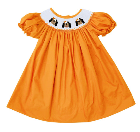 Orange Dog Bishop Dress