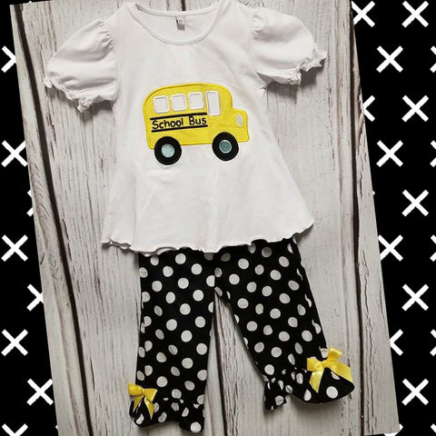 Bus Black and White Pant Set