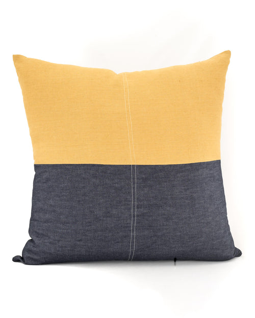 The True Mustard Floor Cushion - Weave and Willow