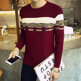 Mens Stylish Chest Patterned Sweater