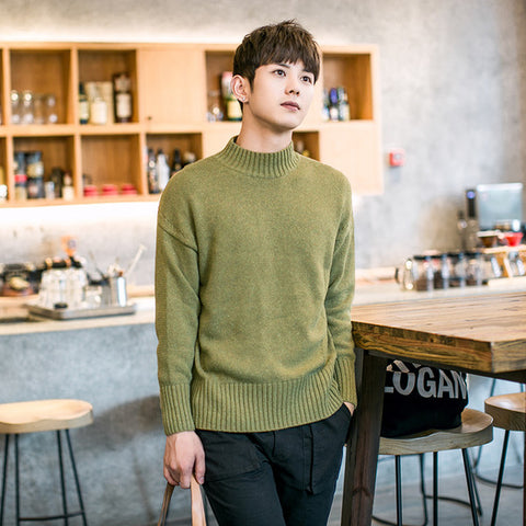 Mens Casual Fall Turtleneck Sweater