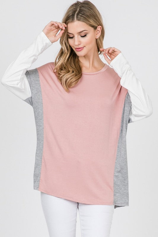 Modal Two Contrast Color Top