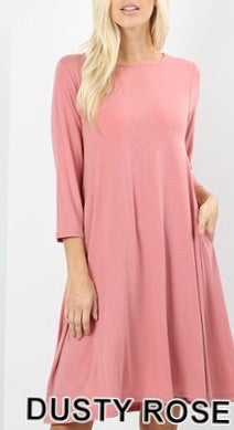 Tunic Dress Solid with pockets