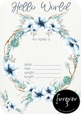 Announcement Card - anemone