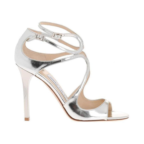 JIMMY CHOO Lang Classic Sandal, Mirror Leather-OZNICO