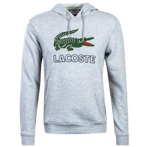 LACOSTE Big Croc Graphic Hoodie, Silver Chine-OZNICO
