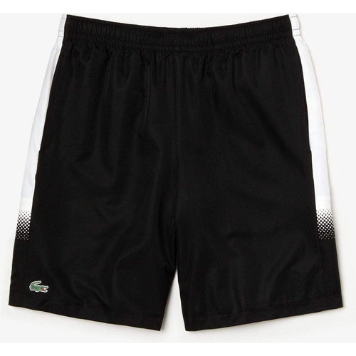 LACOSTE Sport Lightweight Tennis Shorts, Black-OZNICO