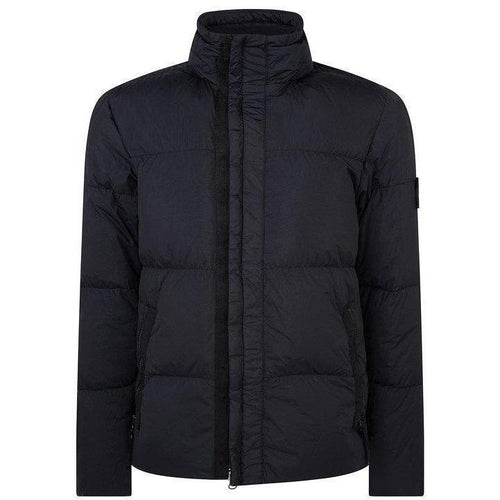 STONE ISLAND: Garment Dyed Crinkle Reps NY Down Jacket, Navy-OZNICO