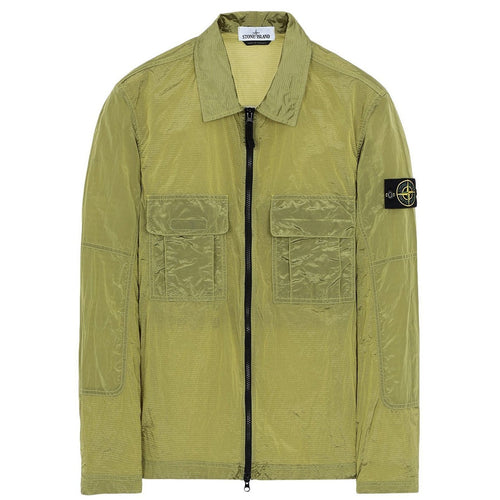 STONE ISLAND Light Weight Overshirt, Wheat Yellow-OZNICO