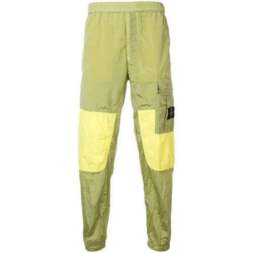 STONE ISLAND Logo Track Cargo Pants, Wheat Yellow-OZNICO