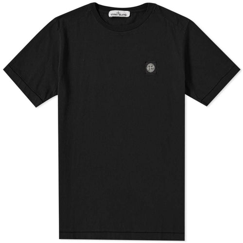 STONE ISLAND Patch Logo T-Shirt, Black-OZNICO