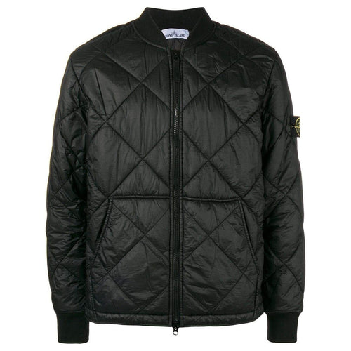 STONE ISLAND Quilted Jacket, Black-OZNICO