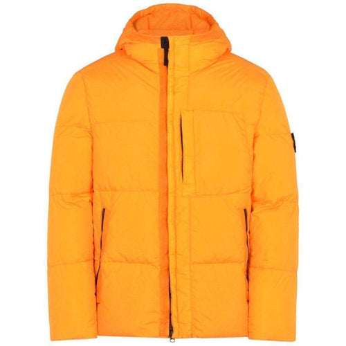 Stone Island: Real Down Blouse Jacket, Orange-OZNICO