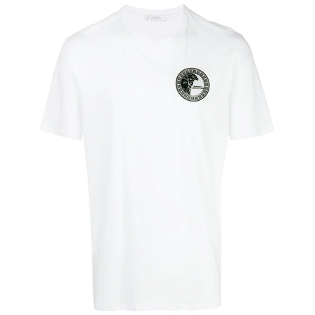 VERSACE COLLECTION Half Medusa Print T-Shirt, White