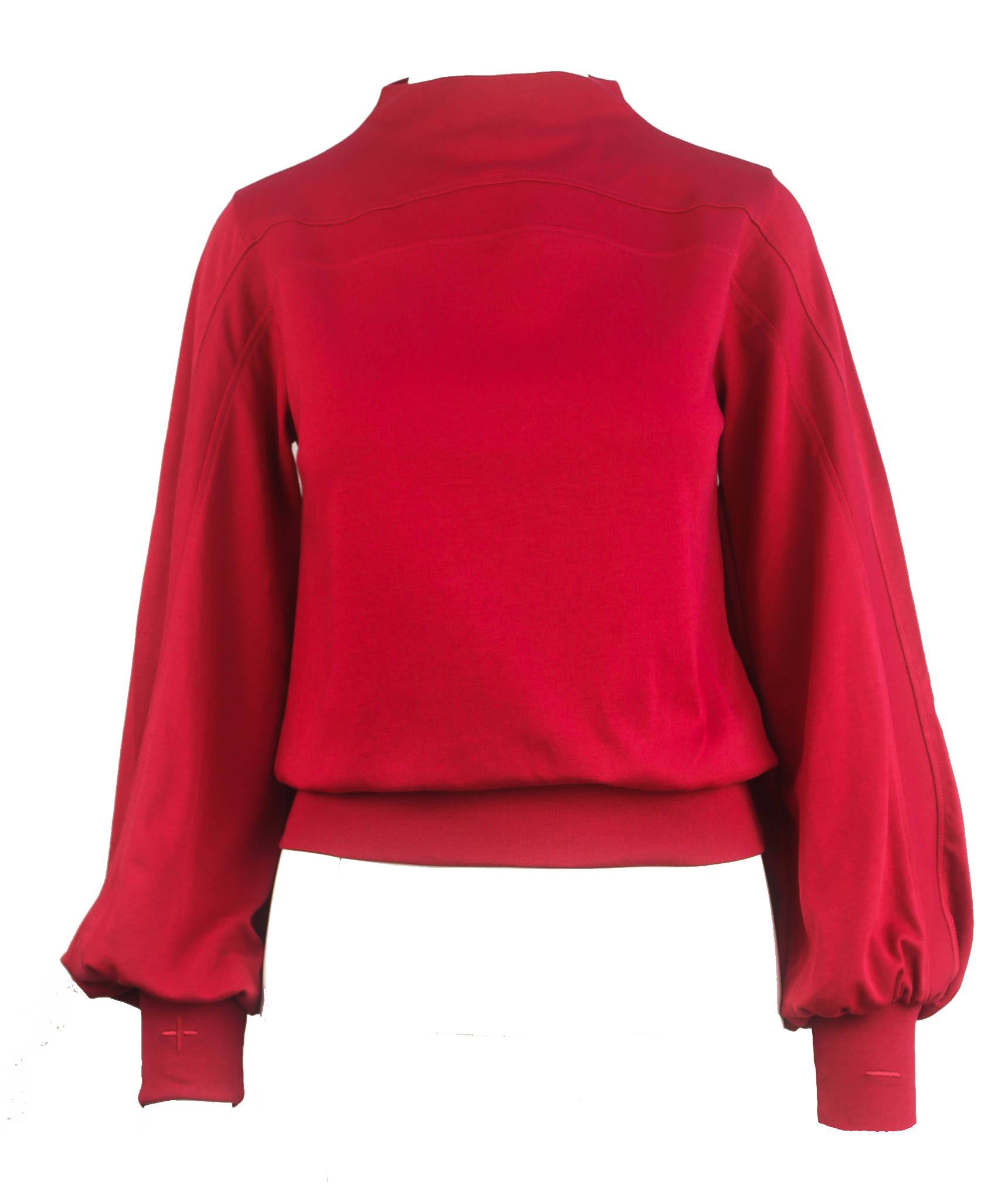 Emmie Mock Turtleneck ~ Scarlet