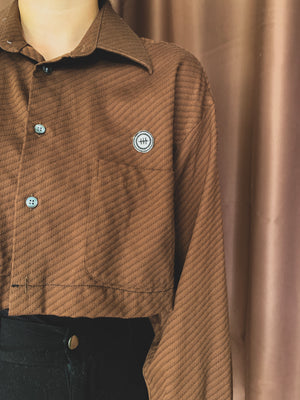 Remastered Vintage Brown Button Down
