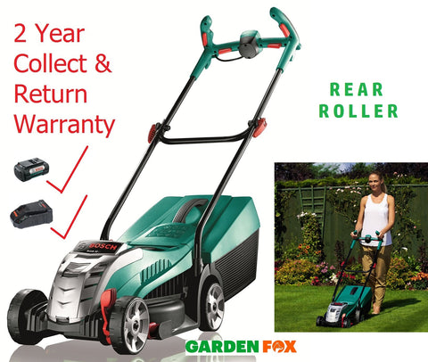 new - Bosch Rotak 32Li 36V Egroflex Cordless Mower 0600885D73 3165140895880 Includes & Battery & Charger