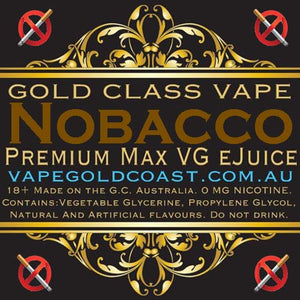 Gold Class Vape - Nobacco (Tobacco) - Vape Gold Coast