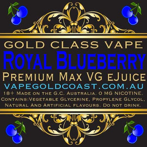 Gold Class Vape - Royal Blueberry (Blueberry cream) - Vape Gold Coast