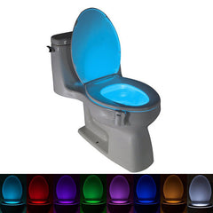 AGM Toilet LED Night Light Motion Sensor 8 Color Changing Auto RGB PIR Human Body Waterproof Seat Lamp Luminaria For Bathroom