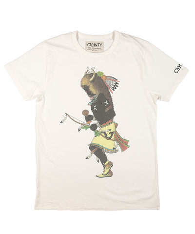 Heyoka 'Buffalo Dance' T-shirt White