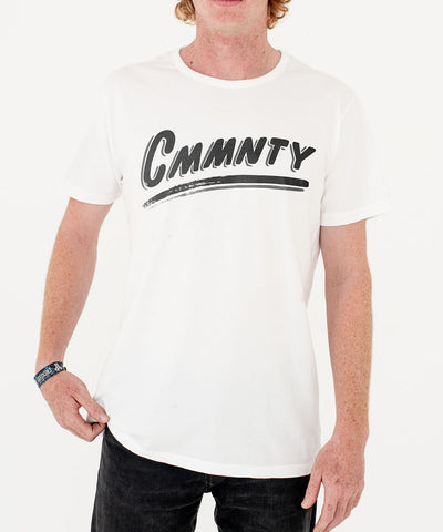 CMMNTY x Ornamental Conifer T-Shirt White