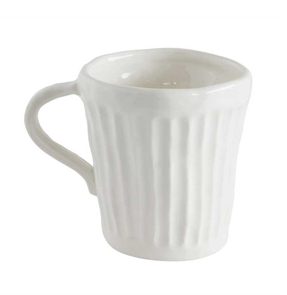 Antique White Stoneware Mug - The Painted Porch Co