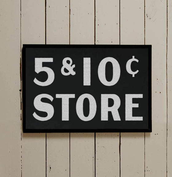 Vintage Inspired Five & Dime Wall Sign - The Painted Porch Co