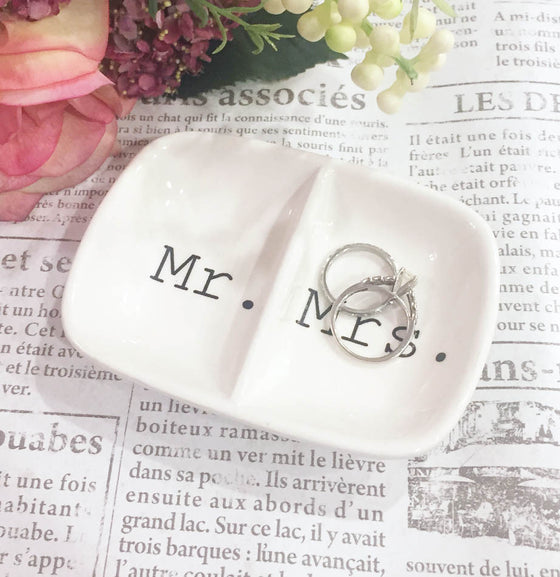 Mr. and Mrs. Ring Dish - The Painted Porch Co
