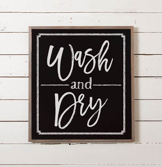 Wash + Dry Laundry Room Sign - The Painted Porch Co