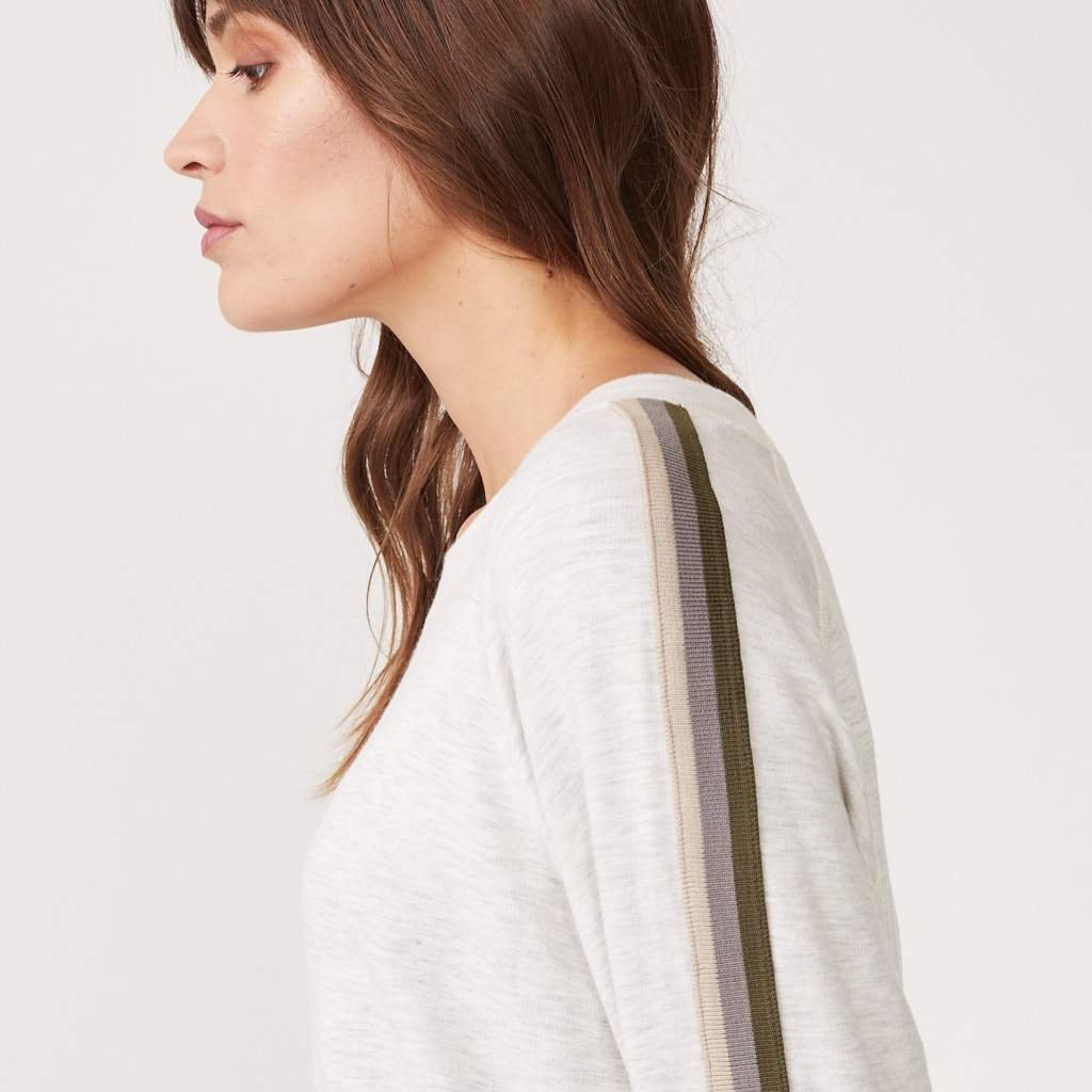 Supersoft Neutral Stripe Raglan