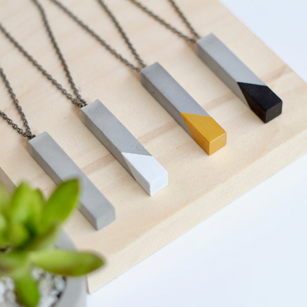 Geometric Bar Pendant Necklace