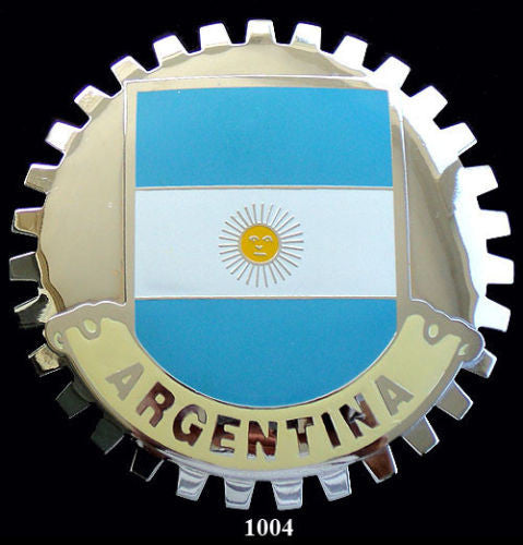 ARGENTINA FLAG CAR GRILLE BADGE EMBLEM