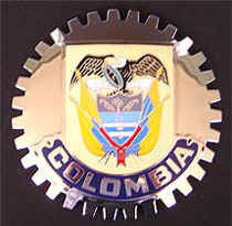 COLOMBIA COAT OF ARMS BADGE EMBLEM
