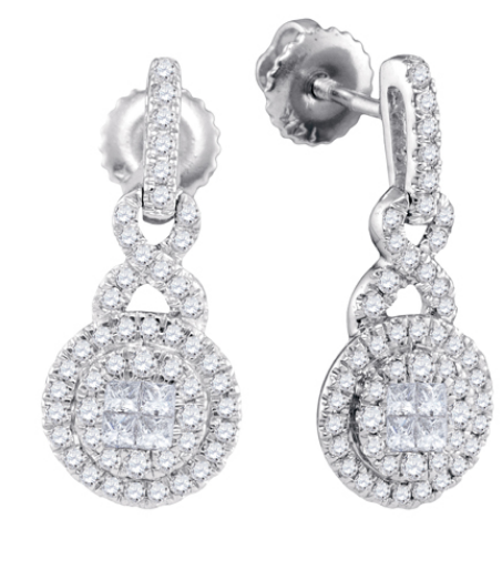 Diamond Halo Soleil Earrings