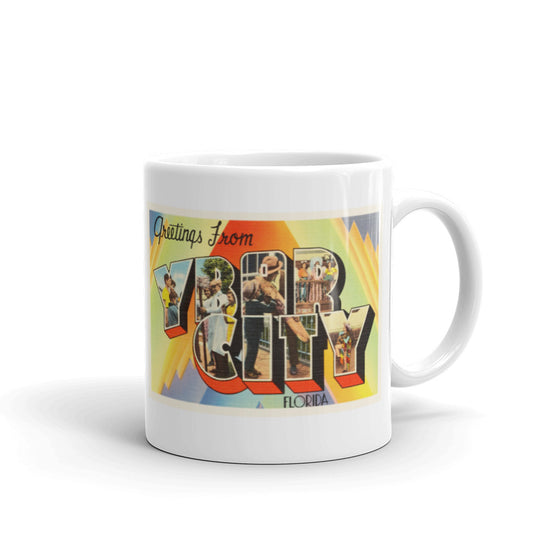 Mug – Ybor City FL Greetings From Florida Big Large Letter Postcard Retro Travel Gift Souvenir Coffee or Tea Cup - American Yesteryear