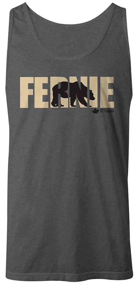 Bear in Fernie tank top