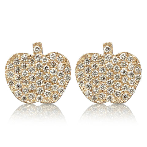 Apple Earrings - Bianca Pratt Jewelry