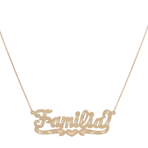 Familia Nameplate Necklace - Bianca Pratt Jewelry
