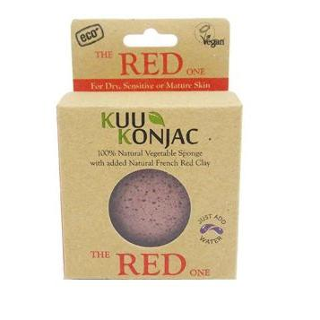 KUU Konjac Sponge with French Red Clay(Red) – Dry, Sensitive and/or Mature Skin