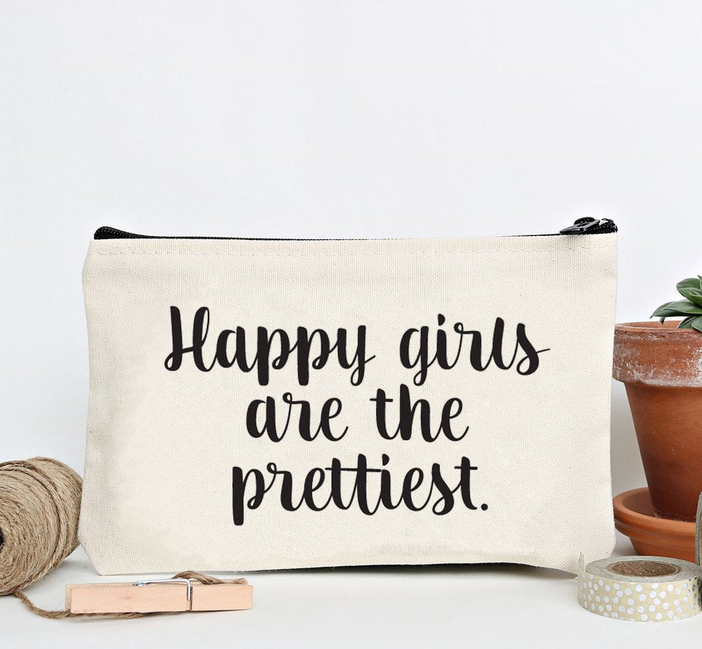 """Happy Girls"" Zip Pouch 1"