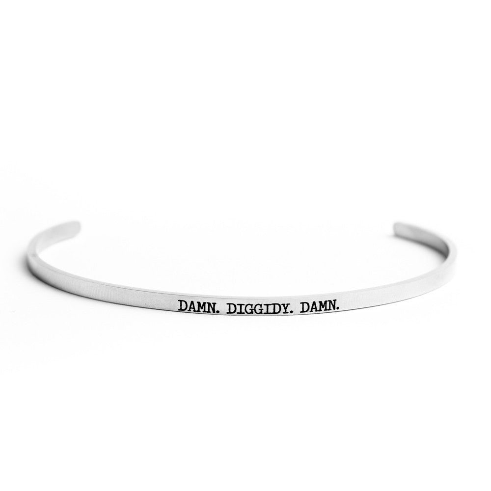 """Triple D"" Delicate Bangle Silver"